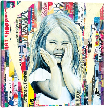 The Mischievous Little Girl Canvas Art Print