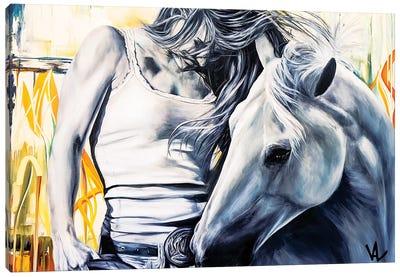 The Winning Horse Canvas Art Print