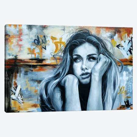 Thoughtful Mood Canvas Print #VAE28} by Val Escoubet Art Print