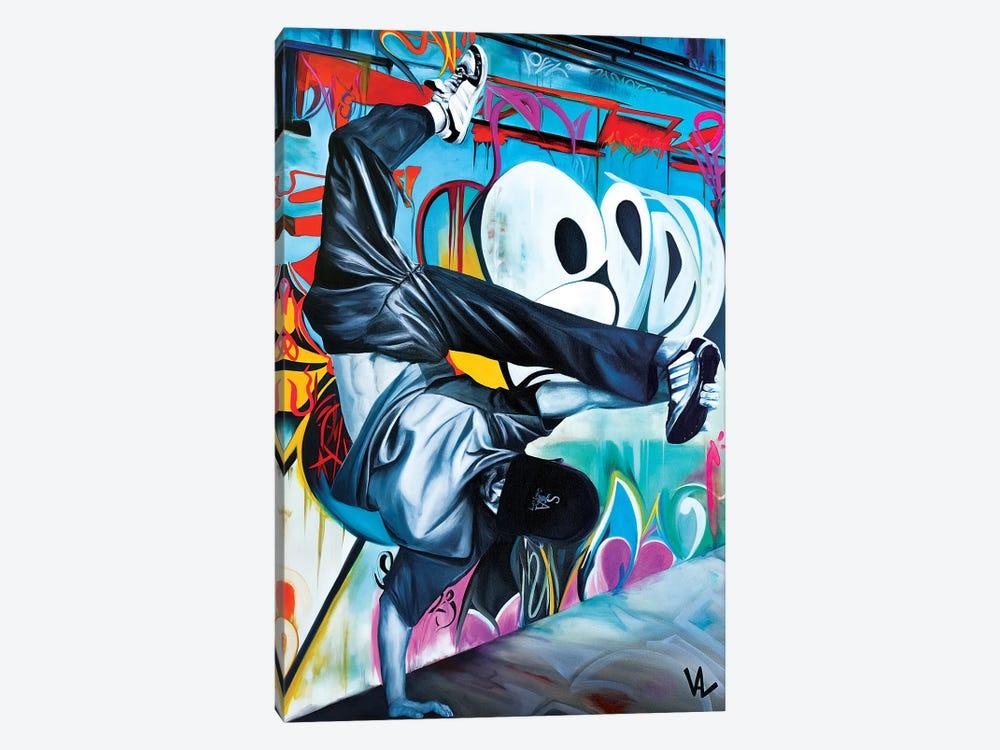 Urban Handstand by Val Escoubet 1-piece Canvas Wall Art