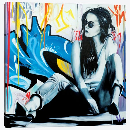 Waiting For Tomorrow Canvas Print #VAE34} by Val Escoubet Canvas Art Print