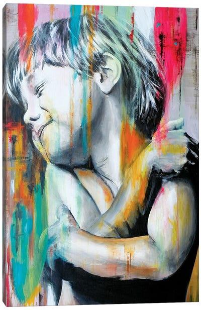 Colored Rain On The Child Canvas Art Print