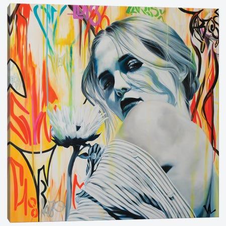 Je T'Aime, Un Peu, Beaucoup ... Canvas Print #VAE42} by Val Escoubet Art Print