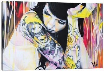 Sous Les Néons Canvas Art Print