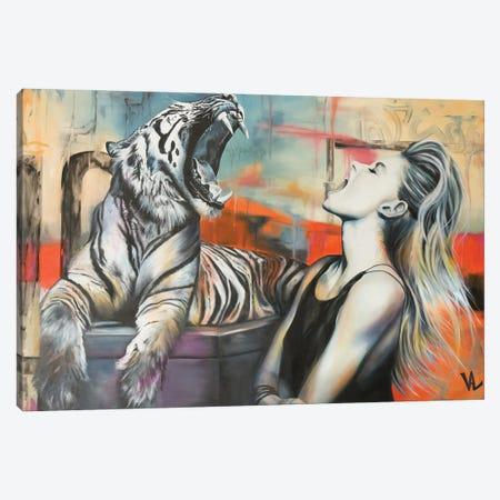 Conversation Canvas Print #VAE55} by Val Escoubet Canvas Print