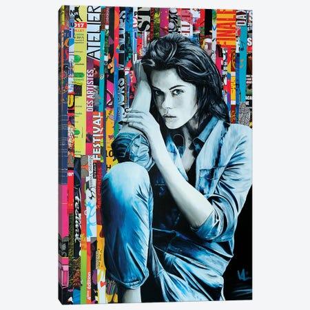 Denim On Paper Canvas Print #VAE6} by Val Escoubet Art Print