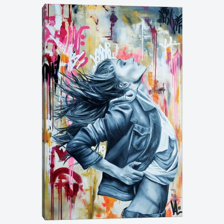 Gisèle In The Wind Canvas Print #VAE8} by Val Escoubet Canvas Wall Art