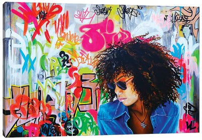 Graffitis On The Wall Canvas Art Print