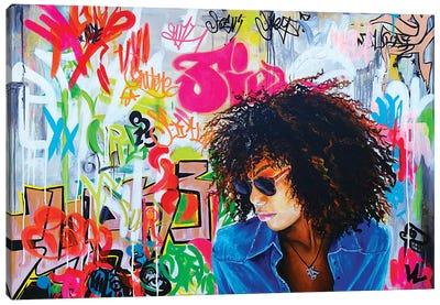 Graffitis On The Wall Canvas Art Print