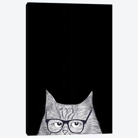 Intelligent Cat Canvas Print #VAK100} by Valeriya Korenkova Canvas Art Print