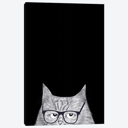 Intelligent Cat Canvas Print #VAK100} by Valeriya Korenkova Canvas Art Print