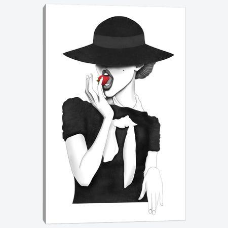 Juicy Strawberry Canvas Print #VAK101} by Valeriya Korenkova Canvas Print
