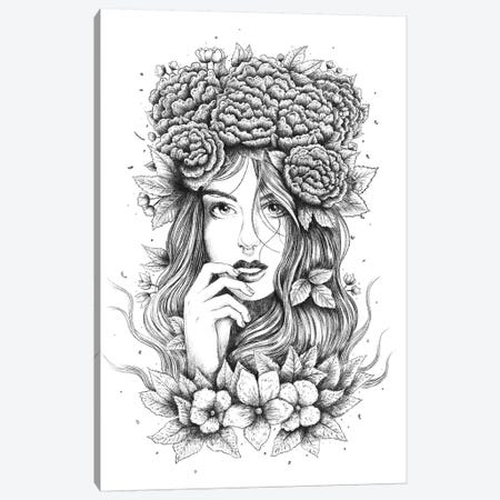 Floral Girl Canvas Print #VAK109} by Valeriya Korenkova Canvas Art Print