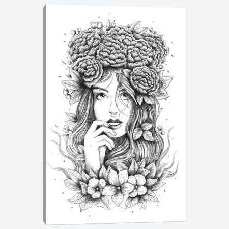 Floral Girl Canvas Print #VAK109} by Valeriya Korenkova Canvas Art Print