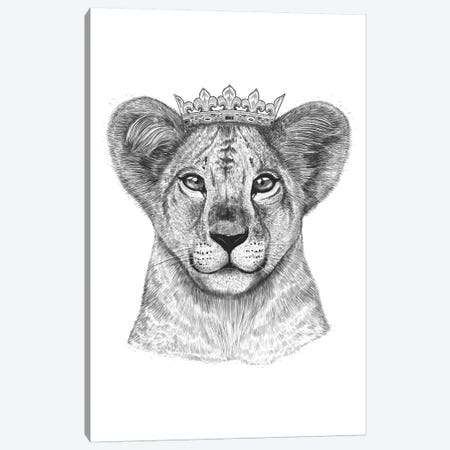 Lion Princess Canvas Print #VAK11} by Valeriya Korenkova Canvas Art