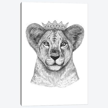 Lion Princess Canvas Print #VAK11} by Valeriya Korenkova Canvas Art