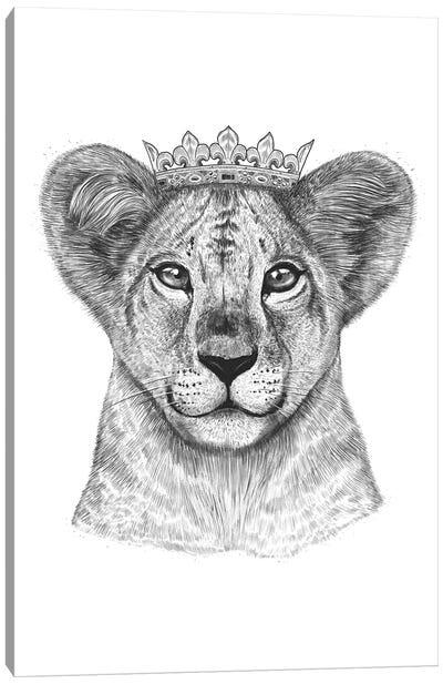Lion Princess Canvas Art Print
