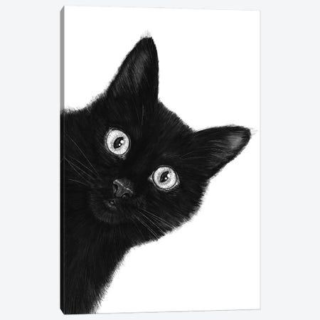 Black Cat Canvas Print #VAK126} by Valeriya Korenkova Canvas Art