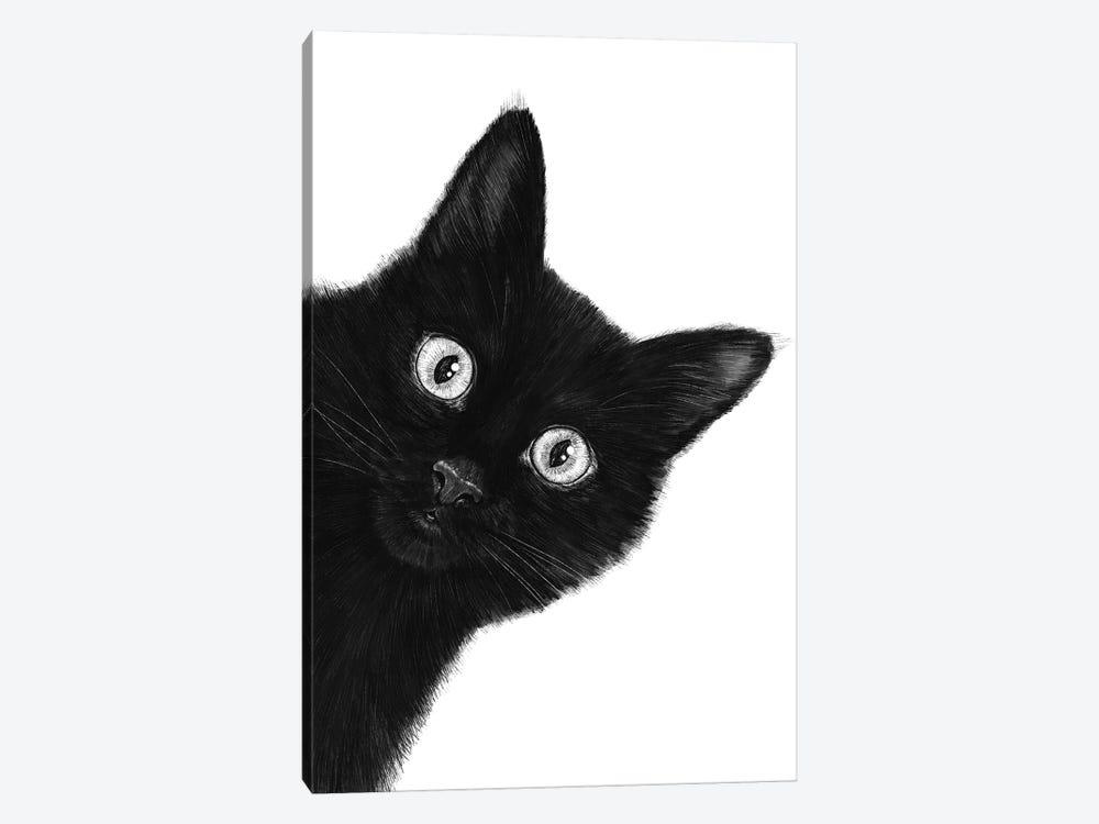 Black Cat by Valeriya Korenkova 1-piece Canvas Art