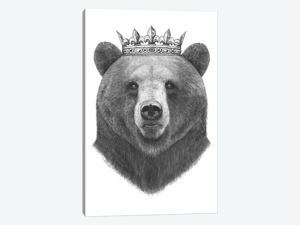 King Bear by Valeriya Korenkova 1-piece Art Print