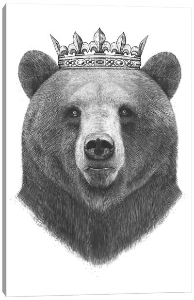 King Bear Canvas Art Print