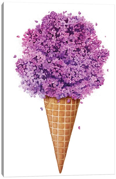 Ice Cream With Lilac Canvas Art Print