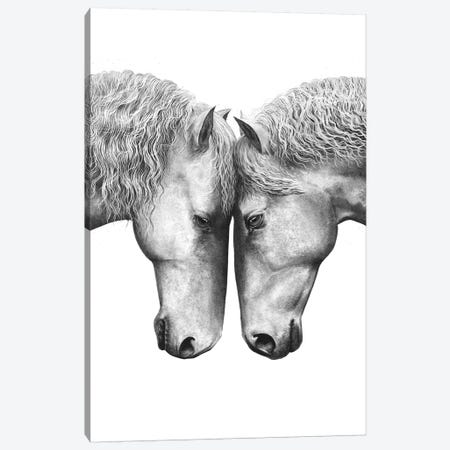 Horse Love Canvas Print #VAK22} by Valeriya Korenkova Canvas Print