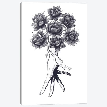 Hand With Flowers Canvas Print #VAK29} by Valeriya Korenkova Canvas Art Print