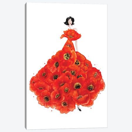 Fashion Poppies Canvas Print #VAK34} by Valeriya Korenkova Canvas Print