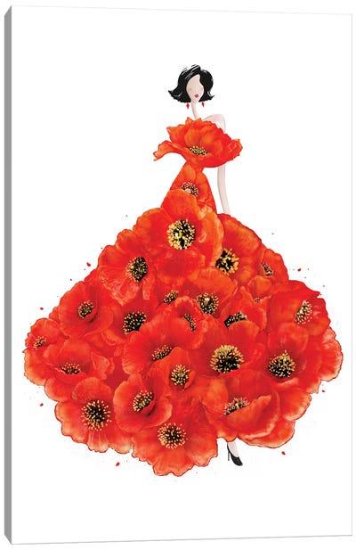 Fashion Poppies Canvas Art Print