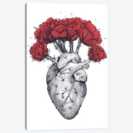 Cactus Heart 3-Piece Canvas #VAK41} by Valeriya Korenkova Art Print
