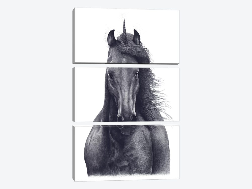 Unicorn by Valeriya Korenkova 3-piece Canvas Wall Art