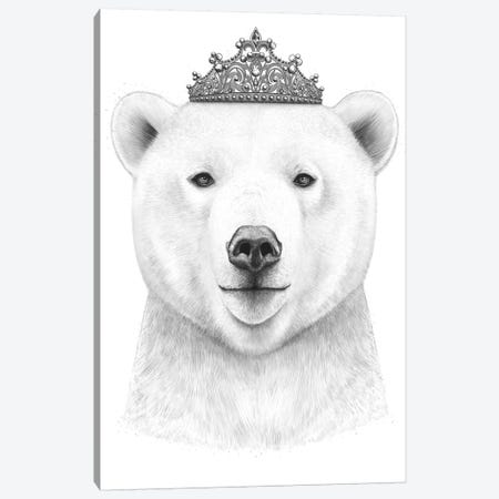 Queen Bear Canvas Print #VAK48} by Valeriya Korenkova Canvas Art Print
