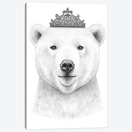 Queen Bear Canvas Print #VAK48} by Valeriya Korenkova Canvas Art Print