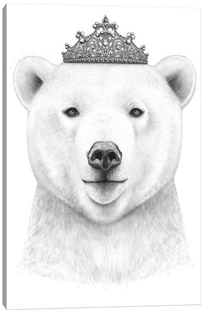 Queen Bear Canvas Art Print