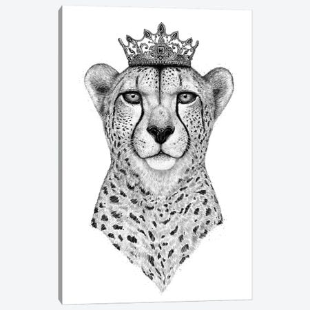 Queen Cheetah Canvas Print #VAK49} by Valeriya Korenkova Canvas Art Print