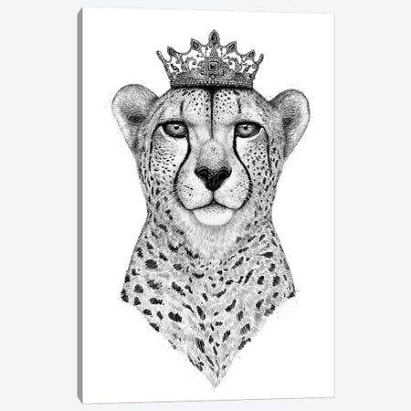 Queen Cheetah Canvas Print #VAK49} by Valeriya Korenkova Canvas Art Print