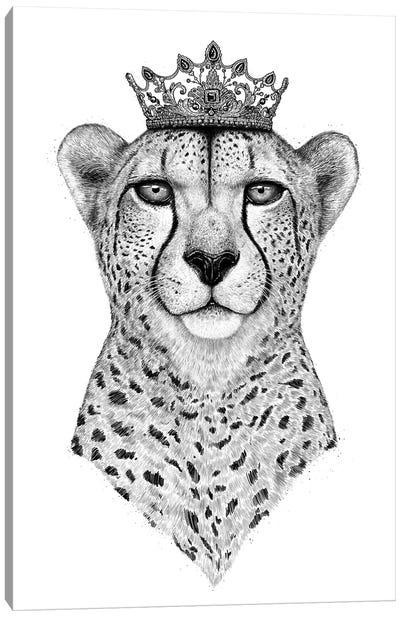 Queen Cheetah Canvas Art Print