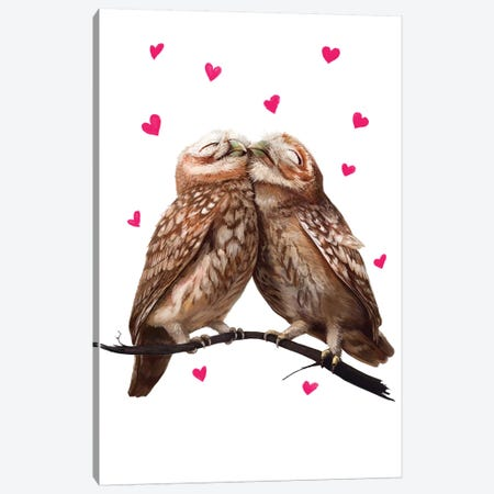 Lovely Owls Canvas Print #VAK4} by Valeriya Korenkova Canvas Art Print