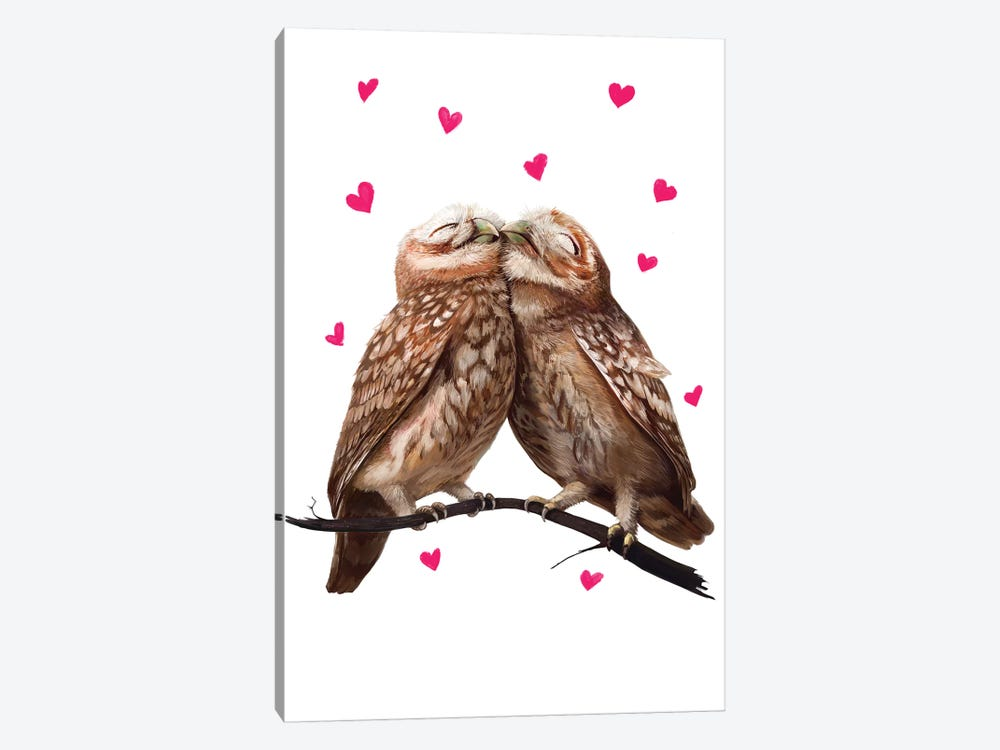 Lovely Owls by Valeriya Korenkova 1-piece Art Print