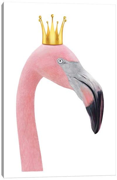 Queen Flamingo Canvas Art Print