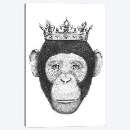 The King Monkey Canvas Print #VAK63} by Valeriya Korenkova Canvas Art Print