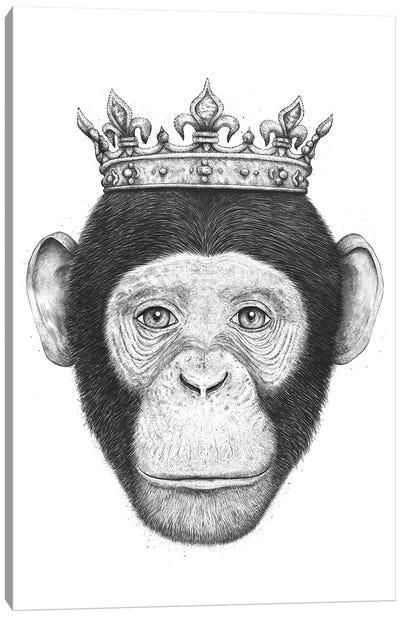 The King Monkey Canvas Art Print