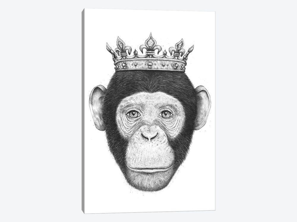 The King Monkey by Valeriya Korenkova 1-piece Canvas Print