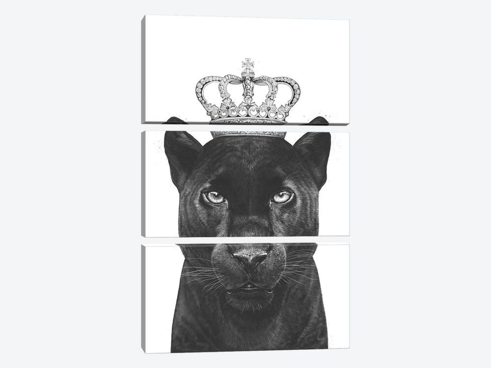 The King Panther by Valeriya Korenkova 3-piece Canvas Art
