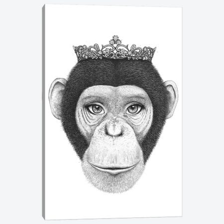 The Queen Monkey 3-Piece Canvas #VAK73} by Valeriya Korenkova Canvas Art