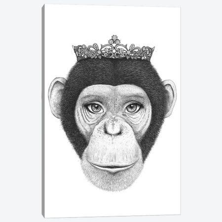 The Queen Monkey Canvas Print #VAK73} by Valeriya Korenkova Canvas Art