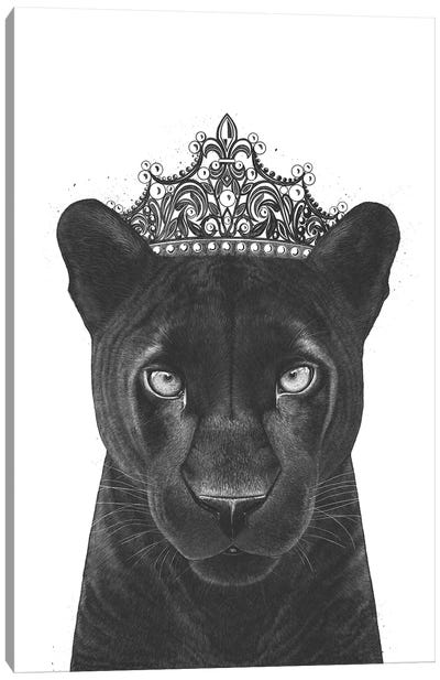 The Queen Panther Canvas Art Print