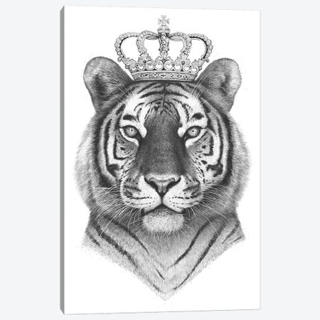 The Tiger King Canvas Print #VAK75} by Valeriya Korenkova Canvas Art Print