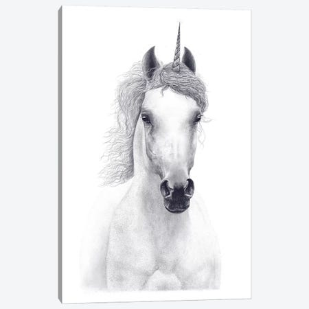 White Unicorn Canvas Print #VAK78} by Valeriya Korenkova Canvas Art